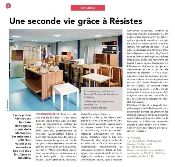 Article Métropole - Le Mag - Novembre 2015