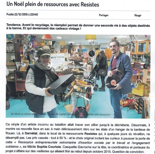 Article - Paris Normandie - décembre 2016
