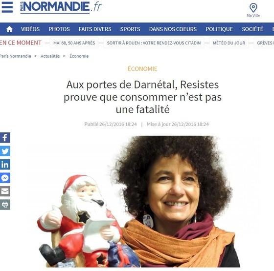 Article Paris Normandie - Portrait de Sophie- décembre 2016
