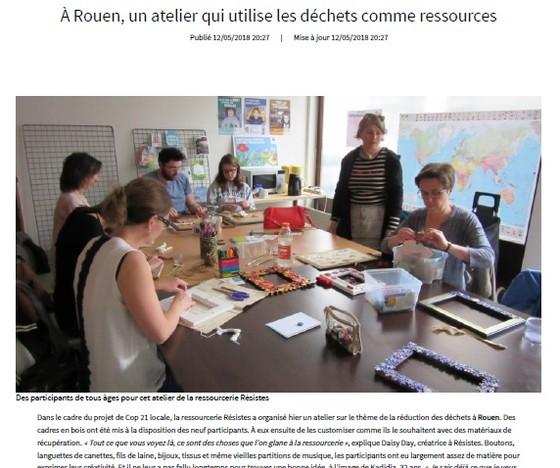 Paris Normandie - mai 2018 - Un atelier qui utilise les déchets ...